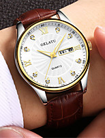 Men's Sport Watch Fashion Watch Japanese Quartz Water Resistant / Water Proof Leather Band Black Brown