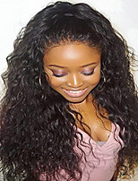 Natural Water Wave Lace Front Wig Human Virgin Hair Wig with Baby Hair