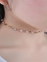 Жен. Ожерелья-бархатки Кристалл Стразы Бижутерия Стразы Мода По заказу покупателя Euramerican Простой стиль Бижутерия НазначениеНа каждый