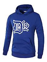 Men's Plus Size Plus Size Outdoor Casual/Daily Street Athleisure Contemporary Casual Chic & Modern Street chic Hoodie Solid Print Pattern