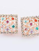 Boucles d'oreille goujon Boucles d'oreille goutte Boucles d'oreille gitane Imitation de diamantBasique Original Logo A Fleurs Stras