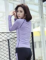 Damen Langärmelige Yoga Kompressionskleidung 3/4 Strumpfhosen