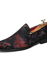 Для мужчин Мокасины и Свитер Удобная обувь Полиуретан Лето Осень Для офиса Повседневный Для вечеринки / ужина Темно-синий Красный2,5 -