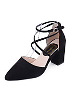 Women's Sandals Summer Comfort PU Outdoor Chunky Heel