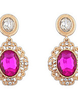 Euramerican  Vintage  Luxury  Elegant  Oval  Gem  Earrings  Women's  Party  Drop  Earrings  Movie  Jewelry