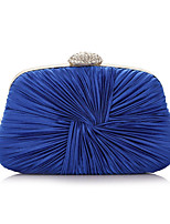 Women Evening Bag Silk All Seasons Formal Casual Event/Party Wedding Professioanl Use Minaudiere Ruffles Clasp LockViolet Black White Handbag Clutch