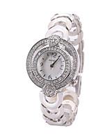 Жен. Часы-браслет Имитационная Четырехугольник Часы Кварцевый сплав Группа Креатив Черный Белый Золотистый