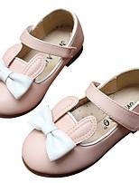 Девочки Топ-сайдеры Удобная обувь Полиуретан Весна Повседневные Удобная обувь На плоской подошве Белый Светло-Розовый На плоской подошве