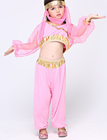 Belly Dance Outfits Kid's Chiffon 1 Long Sleeve Natural