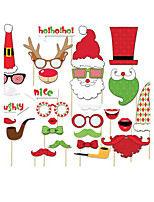 29pcs Christmas Party Photo Booth Props Photobooth Party Decoration