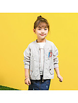 Girls' Solid Color Suit & Blazer,Cotton Polyester Summer Spring Fall Long Sleeve