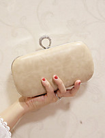 Women Evening Bag PU All Seasons Event/Party Casual Party & Evening Club Baguette Magnetic khaki White