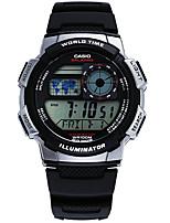 Casio Masculino Relógio Esportivo Japanês Quartzo LED Calendário Impermeável Cronômetro Borracha Banda Casual Cinza
