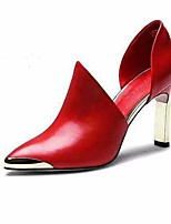 Women's Heels Comfort PU Spring Casual Red Black Flat