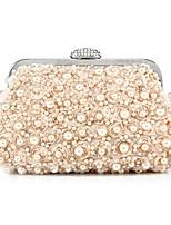 L.WEST omen's fashion Diamond Pearl Beaded Evening Bag