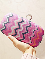 Women Evening Bag PU All Seasons Event/Party Casual Party & Evening Club Baguette Magnetic Violet Fuchsia Blue