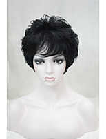 Fashion Curly Black Short Synthetic Hair Full Women's  Wig For Everyday