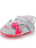 Baby Kids' Loafers & Slip-Ons Cat First Walkers Fabric Summer Fall Party & Evening Dress Casual Bowknot Applique Polka Dot Flat Heel Gray Flat