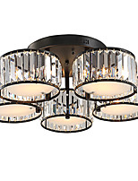 5 Lights Crystal Ceiling light Vintage Painting Feature for Living Room Bedroom Kids Room E27 E26 lampholder