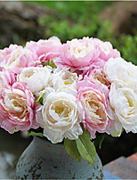 1 Peça 1 Ramo Seda Peônias Flor de Mesa Flores artificiais