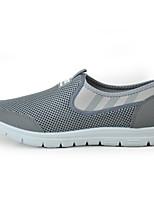 Men's Loafers & Slip-Ons Light Soles Tulle Summer Casual Flat Heel Pool Gray Flat