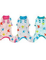 Dog Pajamas Dog Clothes Casual/Daily Stars Light Blue Blushing Pink Green