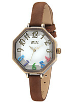 Women's Fashion Watch Quartz Digital Water Resistant / Water Proof PU Band White Blue Brown