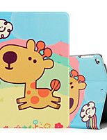 For Apple iPad (2017) iPad Air 2 iPad Air Case Cover Shockproof with Stand Flip Pattern Full Body Case Animal Cartoon Hard PU Leather