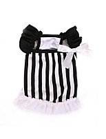 Dog Dress Dog Clothes Cute Classic Fashion Casual/Daily Stripe Stripe