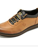 Da uomo Sneakers Comoda Pelle Primavera Autunno Casual Comoda Piatto Giallo ocra Verde Chiaro Meno di 2,5 cm