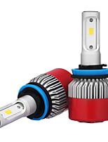 2pcs h8 h9 h11 7200LM СНТ LED лампы 72 Вт водить автомобиль фары лампочки противотуманных фар 6500 к 12 об