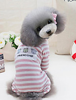 Dog Clothes/Jumpsuit Dog Clothes Casual/Daily Sports Stripe Blushing Pink Gray