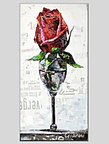 Oil Paintings Floral Style Canvas Material With Wooden Stretcher Ready To Hang Size60*90CM and 50*70CM .