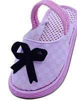 Девочки На плокой подошве Обувь для малышей Хлопок Ткань Весна Осень Повседневные Для прогулок Обувь для малышей На липучкахНа низком