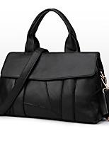 Women Tote PU All Seasons Formal Casual Event/Party Wedding Office & Career Weekend Bag Zipper Black