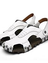 Men's Sandals Comfort Polyamide fabric Spring Casual White Black Light Yellow Flat