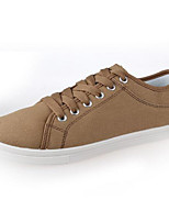 Men's Sneakers Comfort Canvas Spring Casual Khaki Blue Black Flat