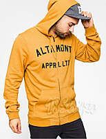 Men's Daily Casual Hoodie Solid Hooded Micro-elastic Cotton Long Sleeve Spring Summer