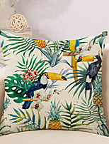 1 Pcs Tropical Flowers With Birds Pillow Cover Creative Pillow Case 45*45Cm Cushion Cover