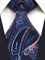 CXL8 Extra Long Unique Classic Mens Neckties Dark Blue Red Abstract 100% Silk Fashion Business Casual For Men