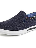 Для мужчин Мокасины и Свитер Удобная обувь Ткань Весна Повседневный Серый Кофейный Морской синий На плоской подошве