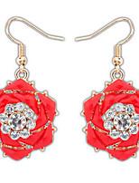 Ohrstecker Tropfen-Ohrringe Kreolen SchmuckBasis Einzigartiges Design Logo Stil Blumen Stil Strass Freundschaft individualisiert Britisch