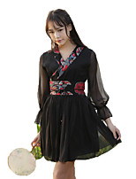 Outfits Wa Lolita Vintage Inspired Cosplay Lolita Dress Vintage Half-Sleeve Short / Mini For