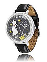 Mujer Reloj de Moda Cuarzo Piel Banda Negro