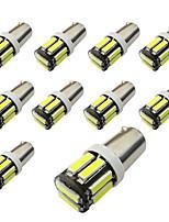 10pcs bax9s h6w доски 10smd 7020 световые индикаторы показывают широкие огни белый / синий dc12v