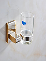 European Style Solid Brass Crystal Gold Bathroom Shelf Bathroom Toothbrush Holder Bathroom Accessories