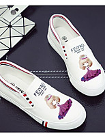 Damen Loafers & Slip-Ons Komfort Leinwand Frühling Normal Komfort Weiß Schwarz Blau Flach