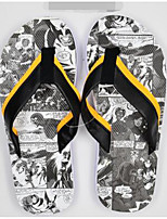 Men's Slippers & Flip-Flops Comfort PP (Polypropylene) Spring Casual Comfort Black/Yellow Blue Ruby Flat