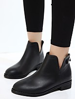 Women's Boots Comfort PU Spring Casual Black Flat