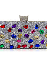 Women Evening Bag Polyester Special Material Formal Casual Event/Party Wedding Minaudiere Acrylic Jewels Crystal/ Rhinestone Handbag Clutch More Color